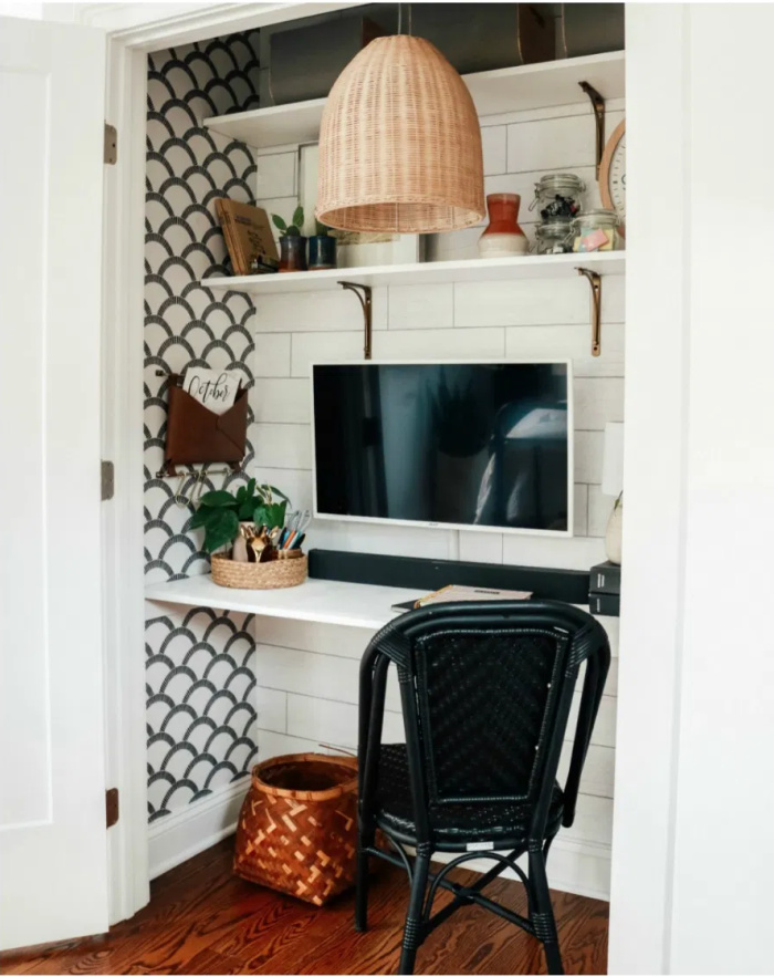 small space hack - home office closet