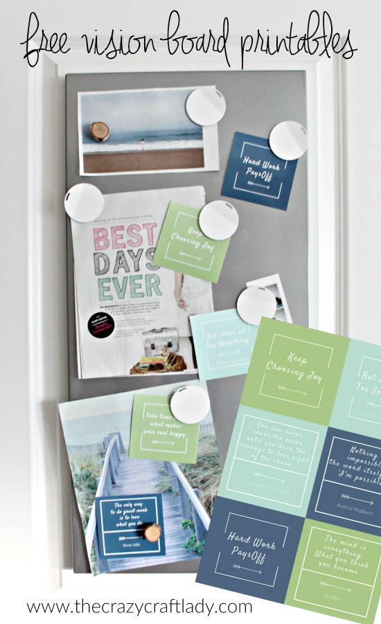 Vision Board Printables (a freebie for you) - The Crazy Craft Lady