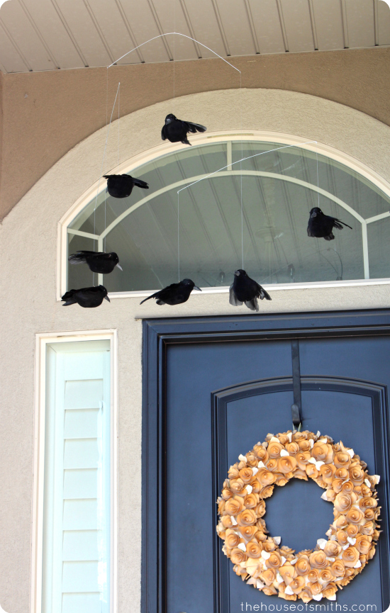 DIY Crow Mobile - Pottery Barn Knockoff - thehouseofsmiths.com
