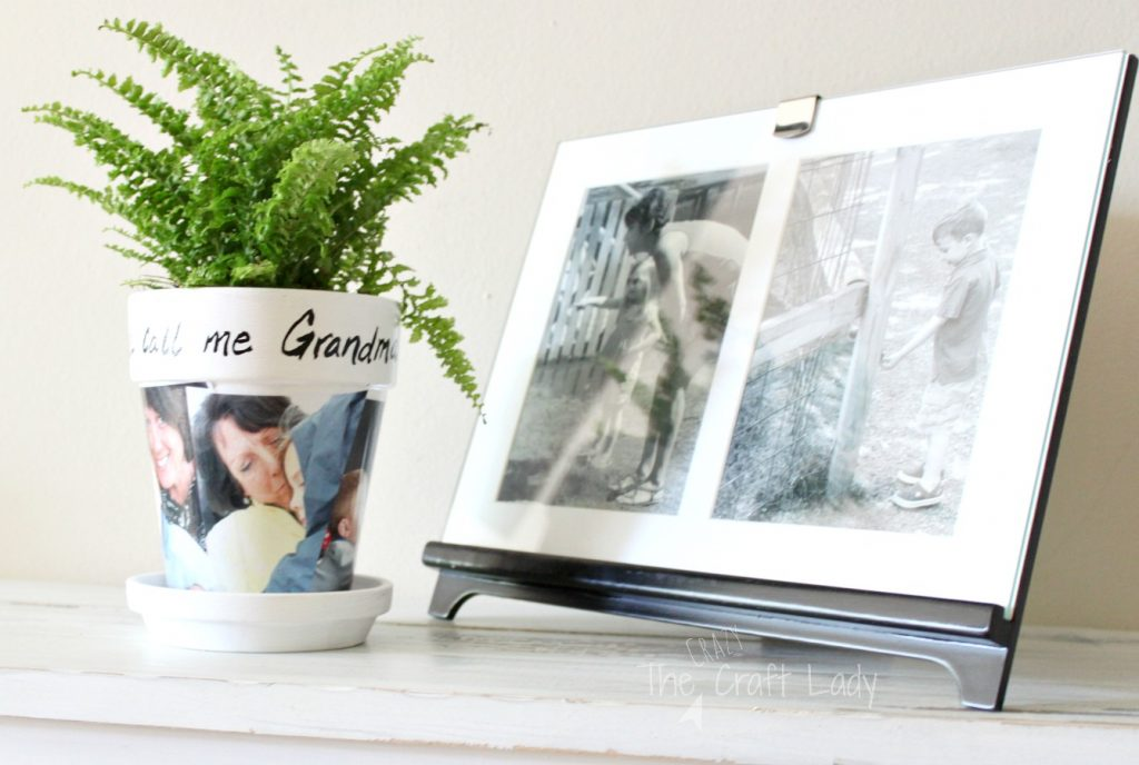 DIY Photo Clay Pot Craft - make a picture gift with a few simple supplies