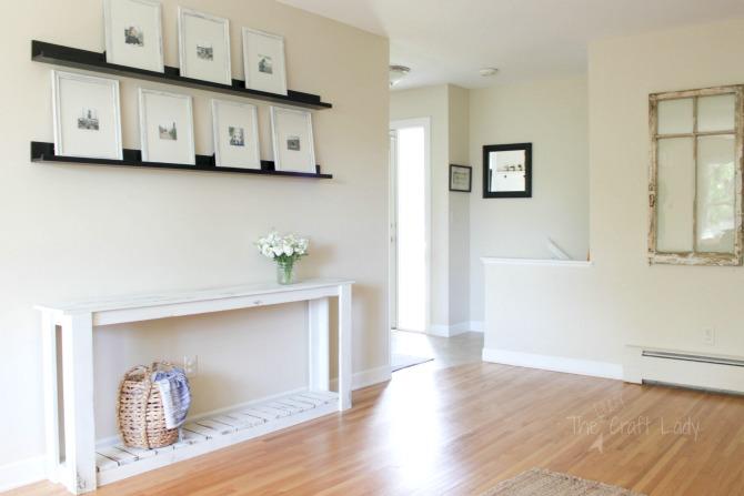 DIY Sofa Table - the perfect farmhouse living room