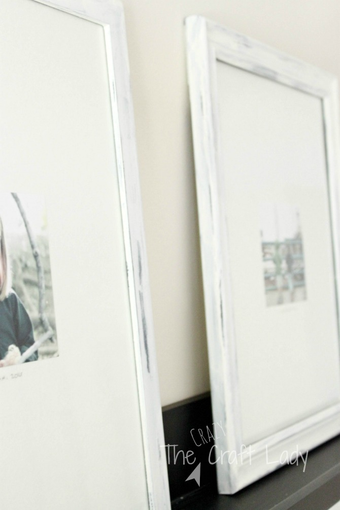 Distressed Painted Picture Frames - how to update thrift store frames for an inexpensive and stylish gallery wall