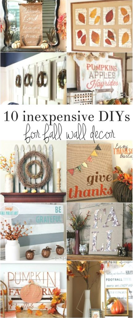 Inexpensive Fall Wall Decor The Crazy Craft Lady