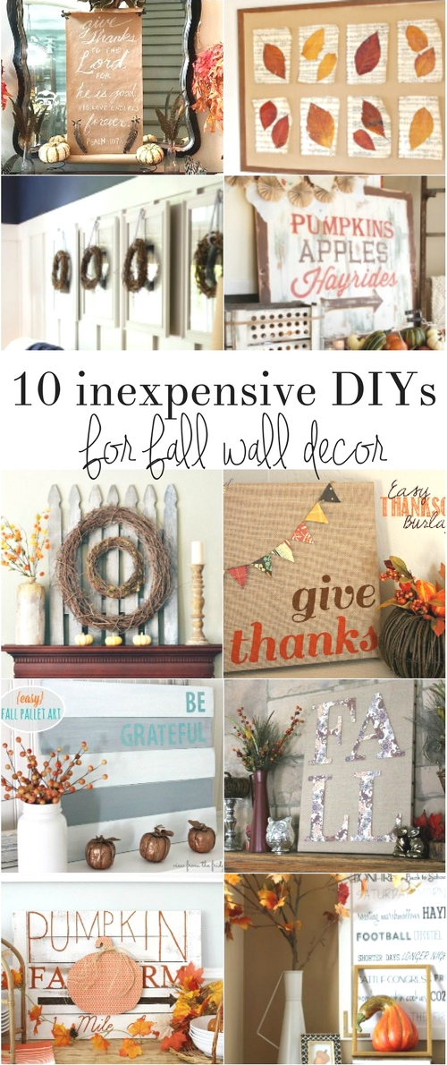 Fall home decor advertisement