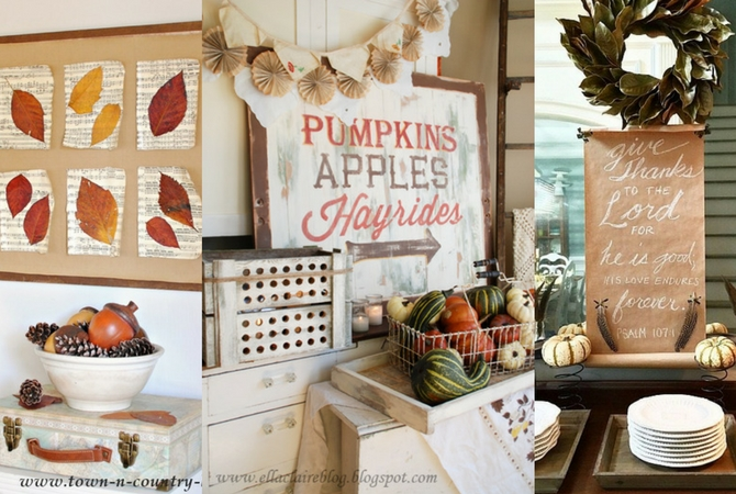 Nice Inexpensive Fall Wall Decor