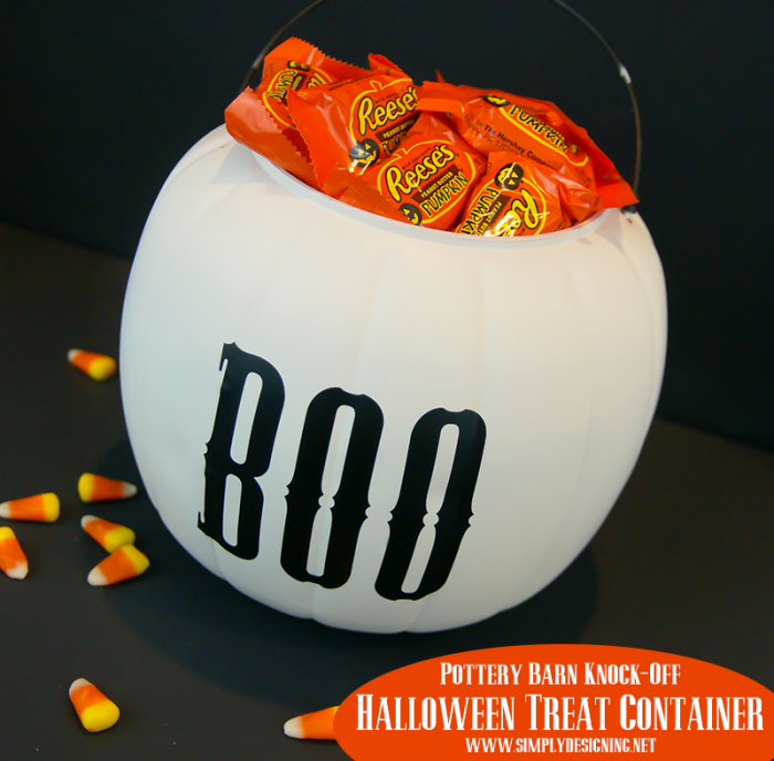 Halloween Treat Container - a Pottery Barn Inspired craft