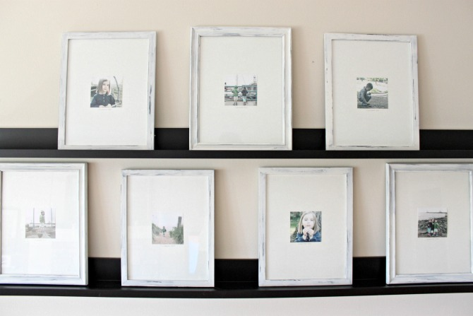 How to distress and paint inexpensive picture frames for a high end gallery wall