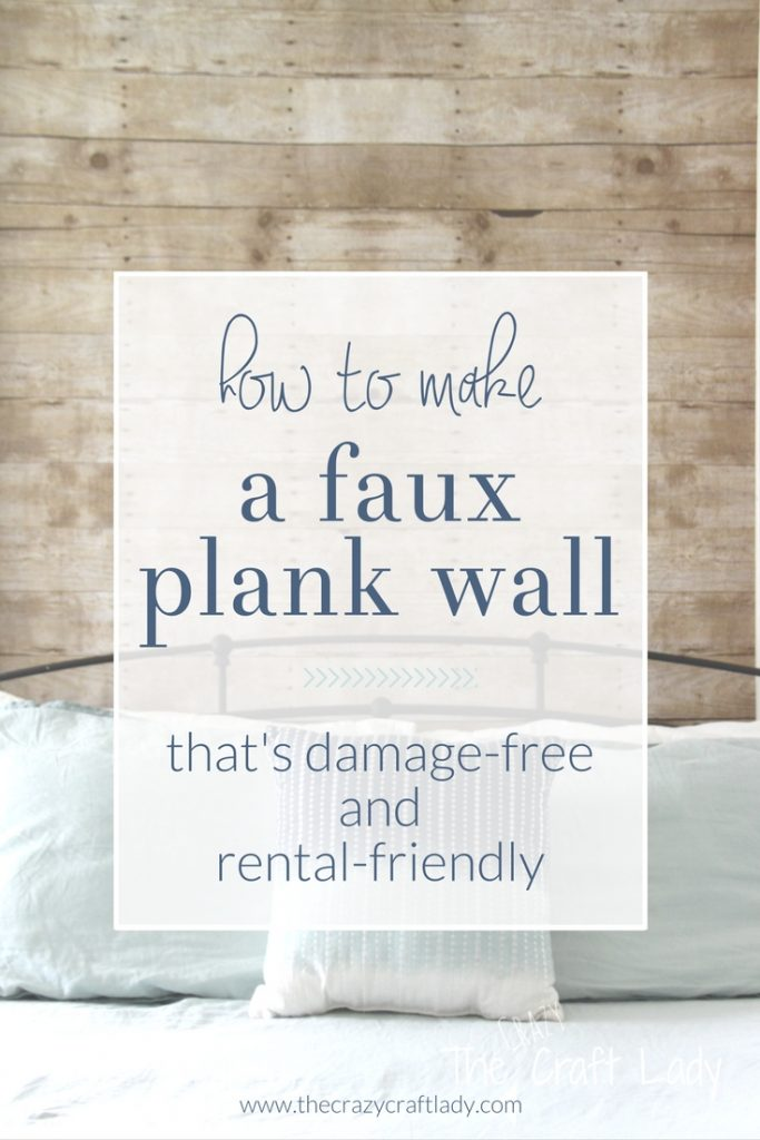 How to make a faux plank wall that's damage free and rental friendly
