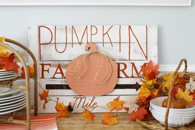 Inexpensive Fall Wall Decor - The Crazy Craft Lady