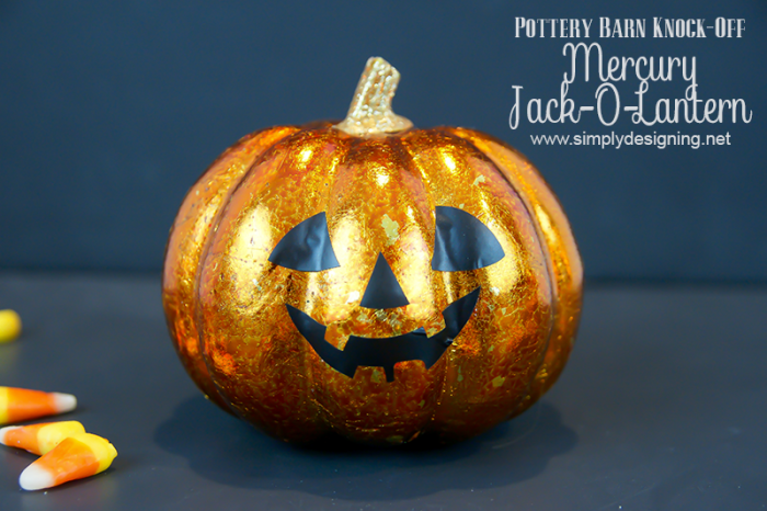 Pottery Barn Halloween Knock-Off Mercury Jack-O-Lantern