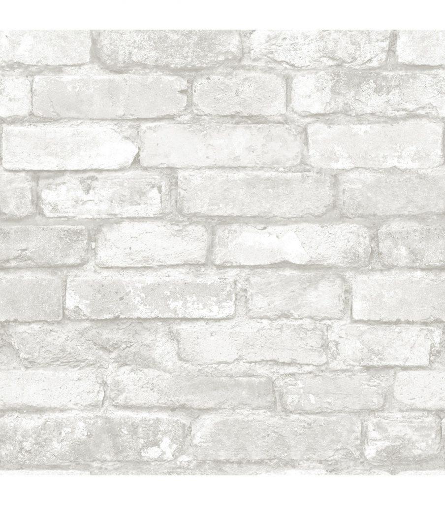 Nuwallpaper Grey White Brick
