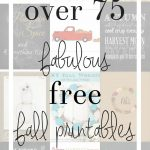 Over 75 Free Fall Printables - fabulous freebies including coloring pages, gift tags, and printable art