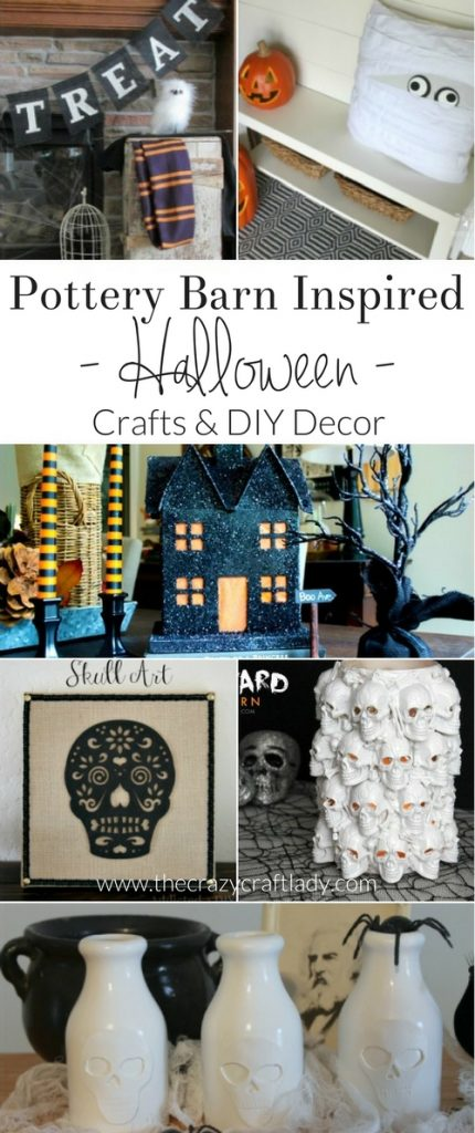 Pottery Barn Halloween - check out these AMAZING Pottery Barn Inspired Halloween crafts and DIY decor