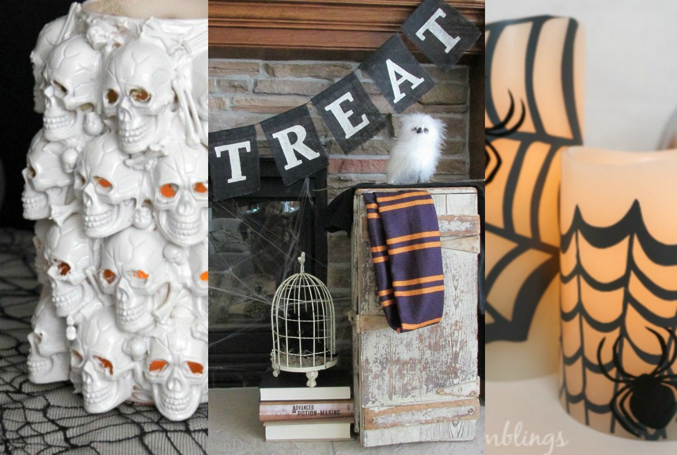 pottery barn halloween diy decor and crafts the crazy craft lady. Black Bedroom Furniture Sets. Home Design Ideas