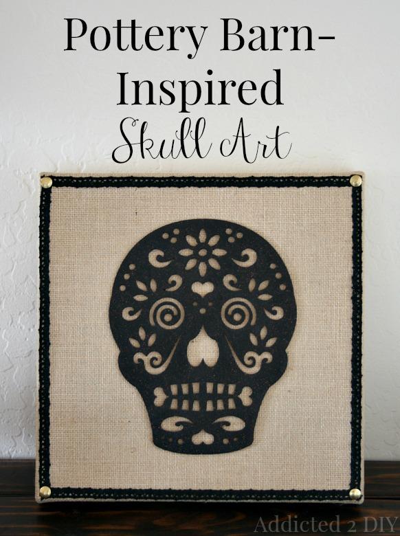 Pottery Barn Inspired Skull Art