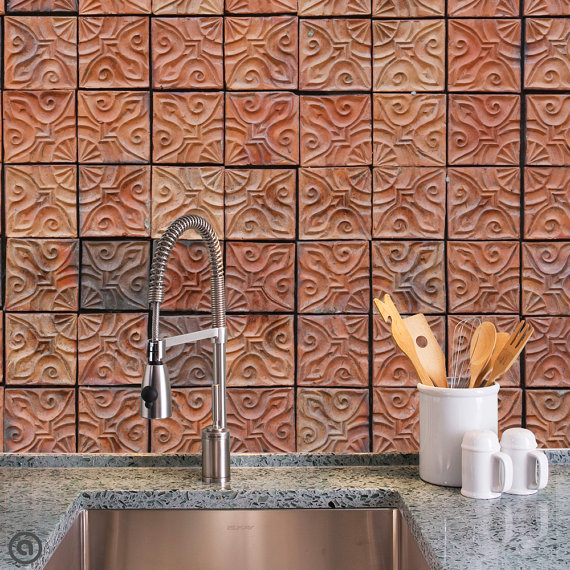 Removable Wallpaper- Clay Tiles