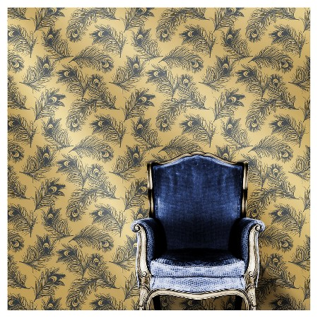 Tempaper Feathers Self-Adhesive Removable Wallpaper - Twilight