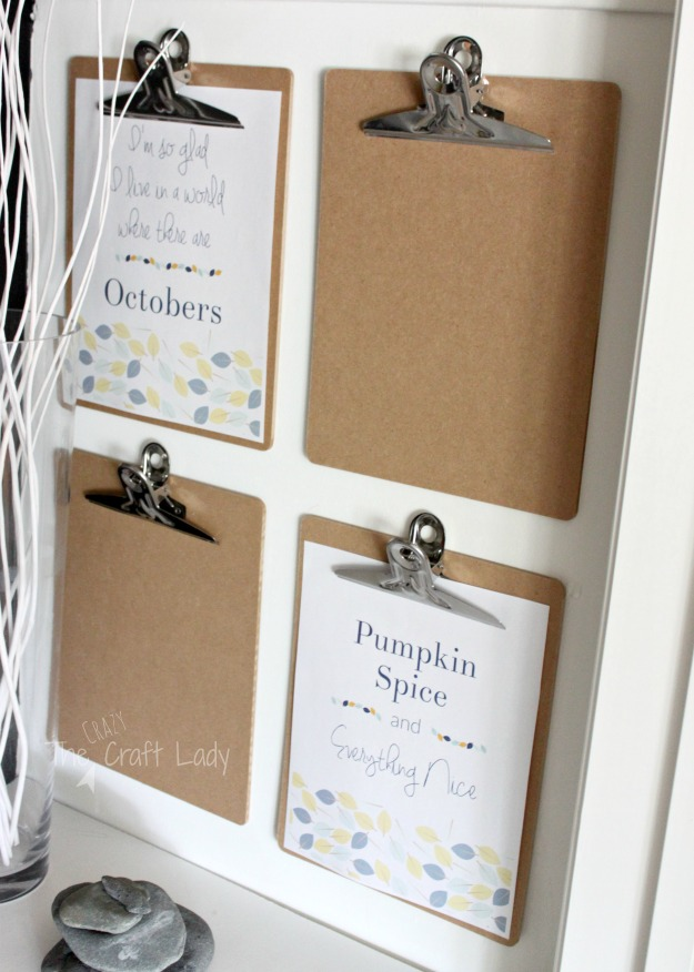 Two Free Fall Printables from The Crazy Craft Lady