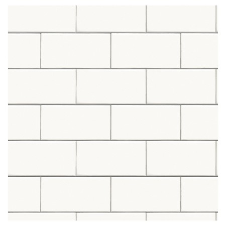 White Subway Tile Devine Color Peel and Stick Wallpaper