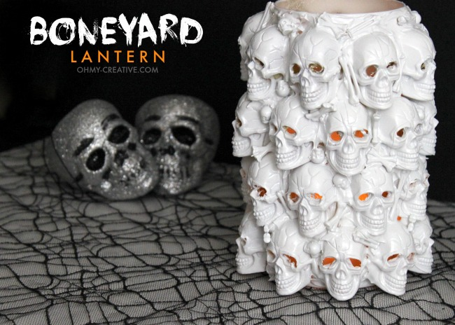 Pottery Barn Halloween Inspired Boneyard Lantern