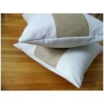 burlap stripe pillow