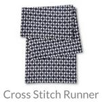 cross stitch table runner