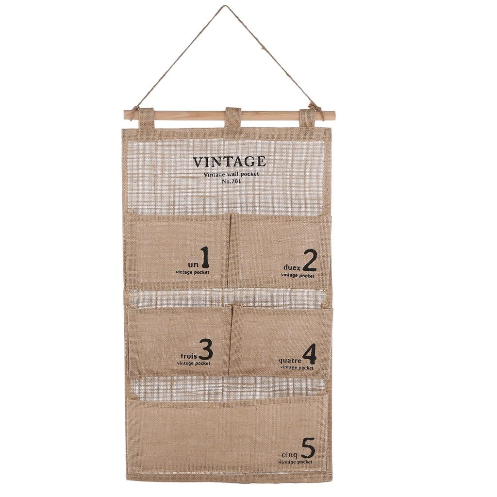 decorative storage - canvas 5 pocket hanging organizer