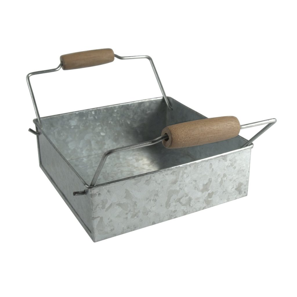 decorative storage - galvanized metal napkin holder
