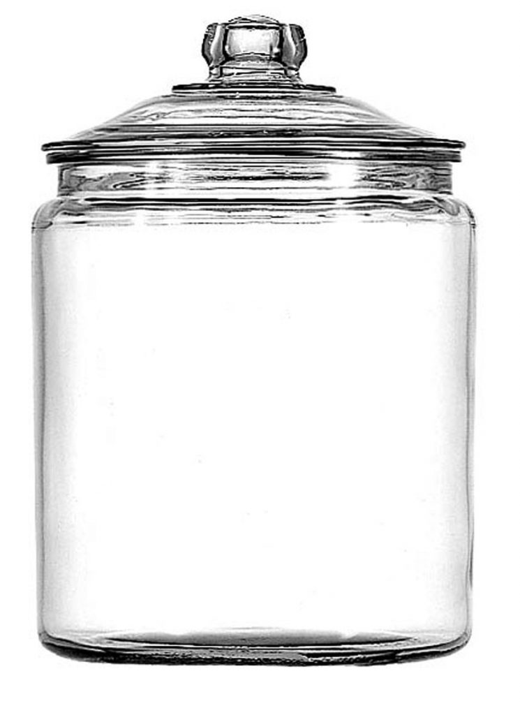 decorative storage glass jars