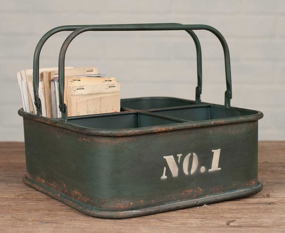 decorative storage - metal caddy