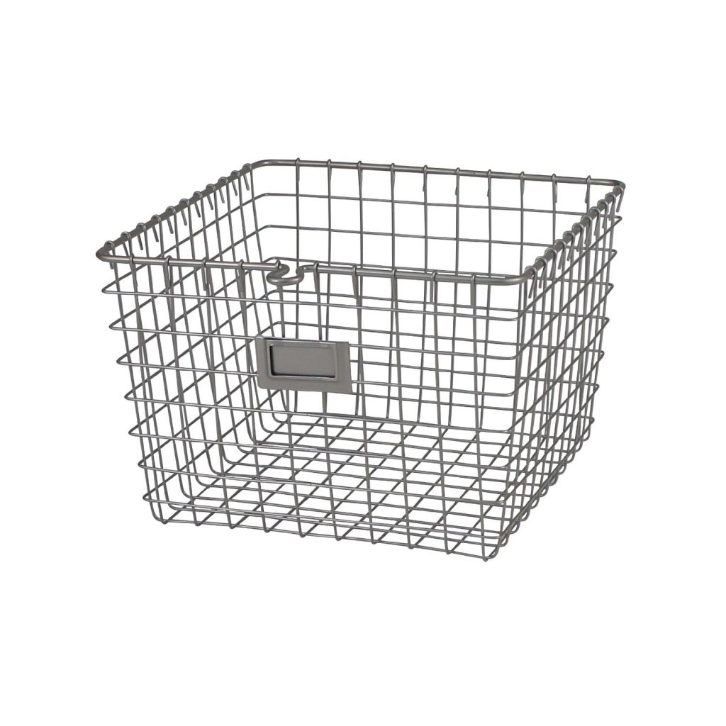 decorative storage - metal wire baskets