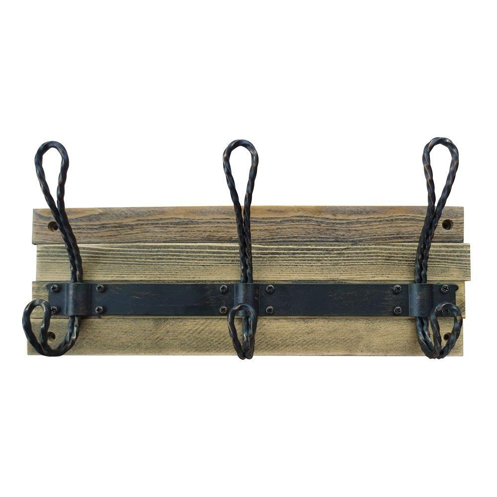 decorative storage - rustic coat hooks