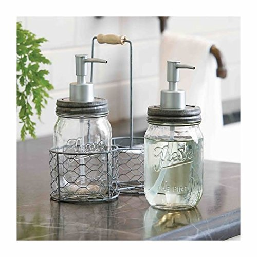decorative storage soap dispenser caddy
