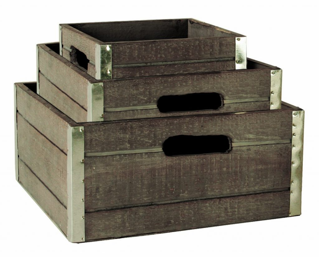 decorative storage wooden crates