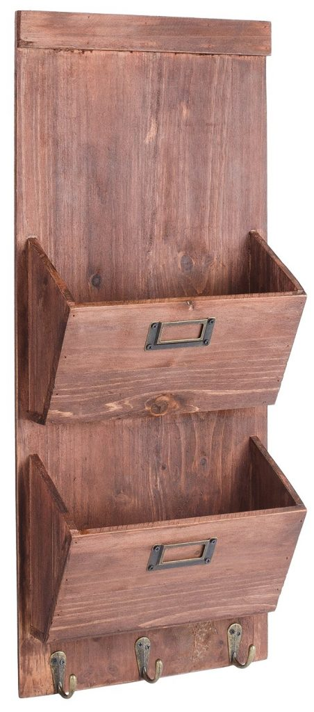 decorative storage - wooden mail organizer