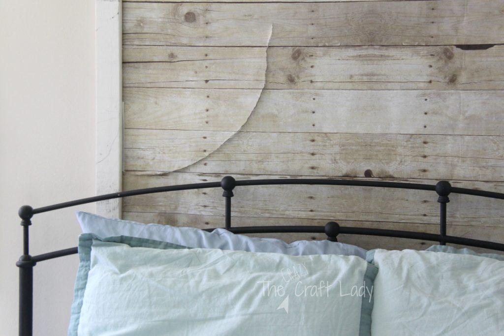 faux plank wall update