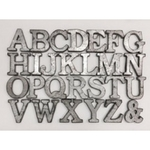 galvanized letters