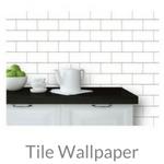 subway tile wallpaper