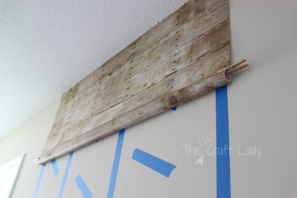 tutorial - how to make a faux plank wall that is damage-free and rental-friendly