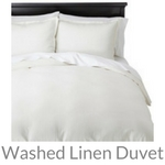 washed linen duvet