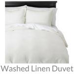 washed linen duvet