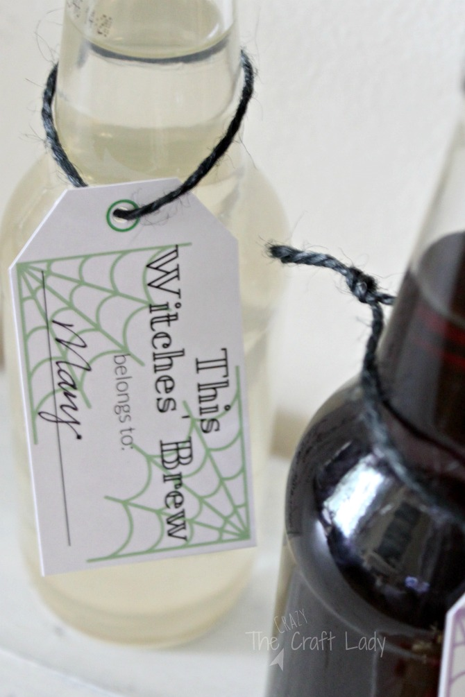 Halloween made Simple - witches brew drink tags