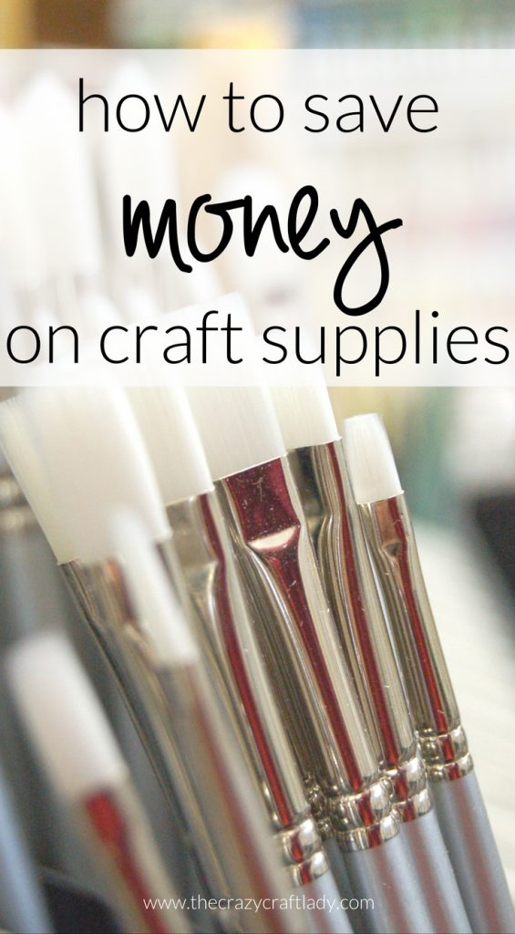How to save money on craft supplies the crazy craft lady for Where to buy cheap craft supplies