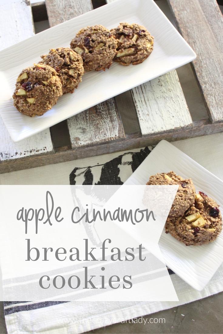 Apple Cinnamon Breakfast Cookies