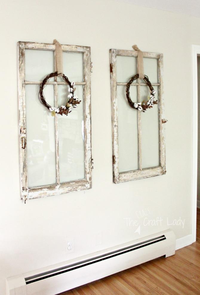 Cotton Wreath DIY tutorial - make fall cotton wreath for fall home decor