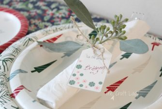 Easy Holiday Entertaining with Paper Products and Printables