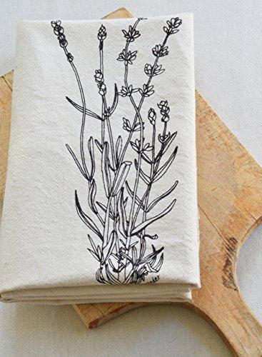 Lavender Flour Sack Towel in Deep Violet