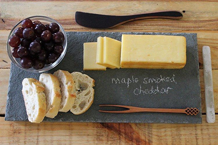 Slate Cheese Board Serving Plate & slate-cheese-board-serving-plate - The Crazy Craft Lady