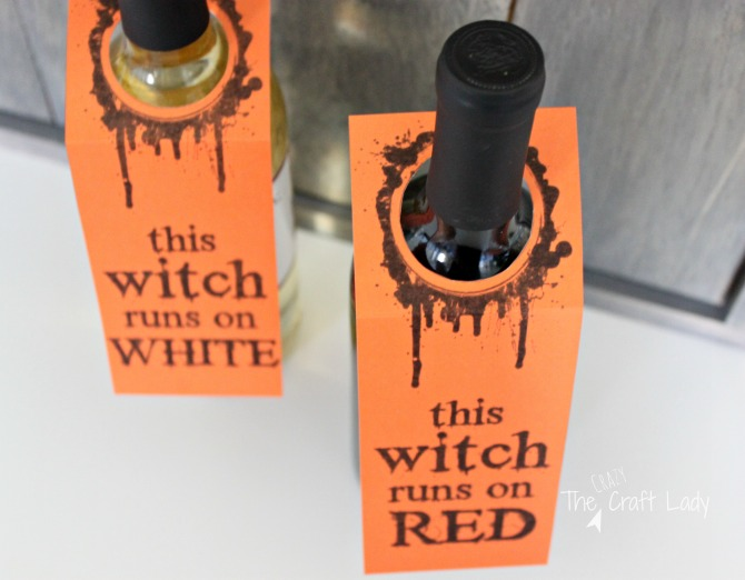free printable halloween wine tags and wine labels from The Crazy Craft Lady