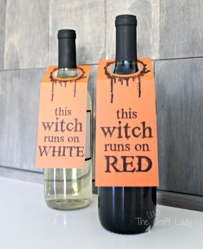 image relating to Free Printable Wine Labels named Halloween Wine Labels - The Mad Craft Woman